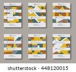 abstract design templates set.... | Shutterstock .eps vector #448120015