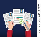 user design resume info graphic ... | Shutterstock .eps vector #448122175