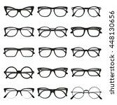 flat vector glasses big set...