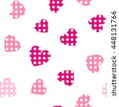 seamless hearts pattern with... | Shutterstock .eps vector #448131766