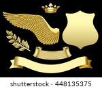 Gold Wing  Crown  Sign  Ribbon...
