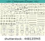 elegant calligraphy design... | Shutterstock .eps vector #448135945