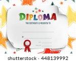 diploma template for kids ...   Shutterstock . vector #448139992
