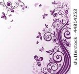 Vintage Floral Violet Background