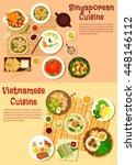 vietnamese spring rolls and... | Shutterstock .eps vector #448146112