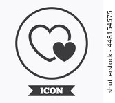 hearts sign icon. love symbol.... | Shutterstock .eps vector #448154575