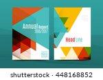 geometric mosaic design  a4... | Shutterstock .eps vector #448168852