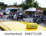 Taxi At Monastiraki Athens