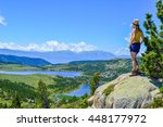 lake in the south of france ... | Shutterstock . vector #448177972