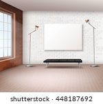 realistic spacious loft with... | Shutterstock .eps vector #448187692