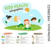 healthy lifestyle tips for kids ... | Shutterstock .eps vector #448188622