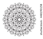 beautiful vector mandala. black ... | Shutterstock .eps vector #448190158