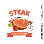 fresh steak vector banner with... | Shutterstock .eps vector #448192798