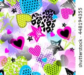 abstract seamless pattern for... | Shutterstock .eps vector #448194355