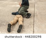 police tactical training of... | Shutterstock . vector #448200298