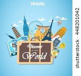 architectural landmarks of the... | Shutterstock .eps vector #448201042