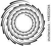 spiral element. concentric... | Shutterstock .eps vector #448202266