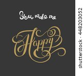 gold handwritten inscription... | Shutterstock .eps vector #448203052