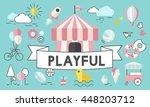 children kids energetic youth... | Shutterstock . vector #448203712