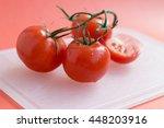 red ripe fresh tomatoes on...   Shutterstock . vector #448203916