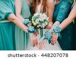 blue and aqua wedding dresscode....   Shutterstock . vector #448207078
