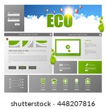 green eco website template...