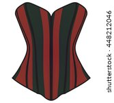 corset  red and black corset | Shutterstock .eps vector #448212046