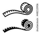 fitness measuring tape black...   Shutterstock .eps vector #448213906