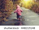 Toddler Girl In Pink Jacket...