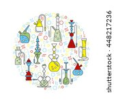 icons with hookahs  made in... | Shutterstock .eps vector #448217236