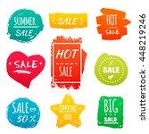 big summer sale banners ... | Shutterstock .eps vector #448219246