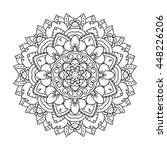 mandala design element.... | Shutterstock .eps vector #448226206