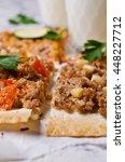 traditional asian thin tortilla ... | Shutterstock . vector #448227712