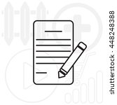 writing pad and pen line icon   Shutterstock .eps vector #448248388