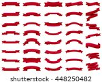 ribbon vector icon set red... | Shutterstock .eps vector #448250482