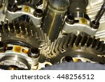 gear in car engine with... | Shutterstock . vector #448256512