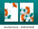 geometric design a4 size cover... | Shutterstock .eps vector #448265668