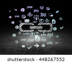 web design concept  glowing... | Shutterstock . vector #448267552