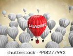 leadership concept with 3d... | Shutterstock . vector #448277992
