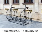 bike stand in penny farthing... | Shutterstock . vector #448280722