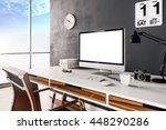3d render of modern computer... | Shutterstock . vector #448290286