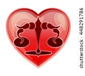 zodiac sign libra  vector...   Shutterstock .eps vector #448291786