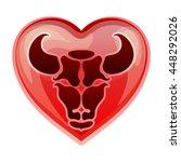 zodiac sign taurus  vector... | Shutterstock .eps vector #448292026