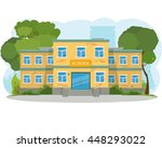modern school building  the... | Shutterstock .eps vector #448293022