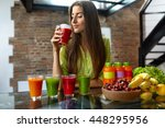 fitness food. healthy eating... | Shutterstock . vector #448295956