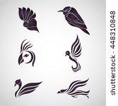 bird logo icon vector set | Shutterstock .eps vector #448310848