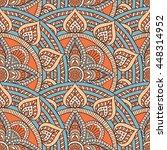 seamless pattern. vintage... | Shutterstock . vector #448314952