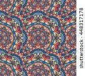 seamless pattern. vintage... | Shutterstock . vector #448317178