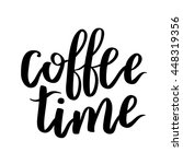 vector quote with coffee... | Shutterstock .eps vector #448319356