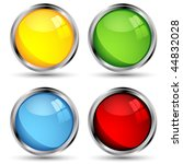 vector web buttons set over... | Shutterstock .eps vector #44832028
